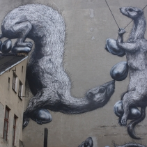 The city of Lodz, Urban Forms Gallery, artist: ROA (Belgium)