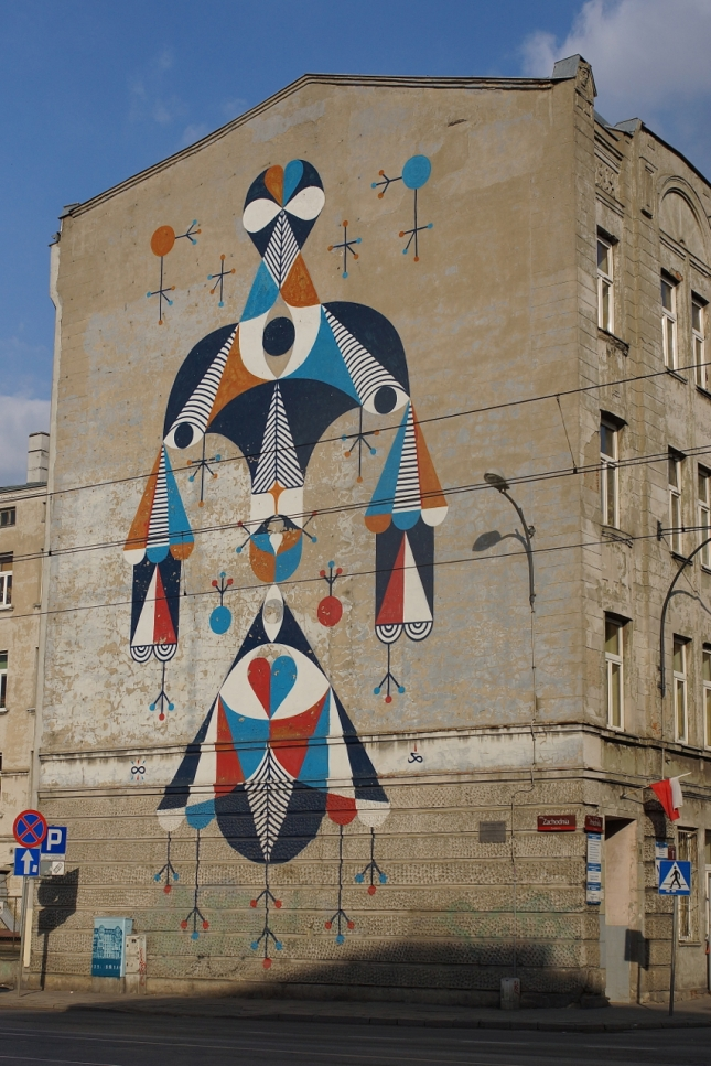 The city of Lodz, Urban Forms Gallery, artist: REMED (France)
