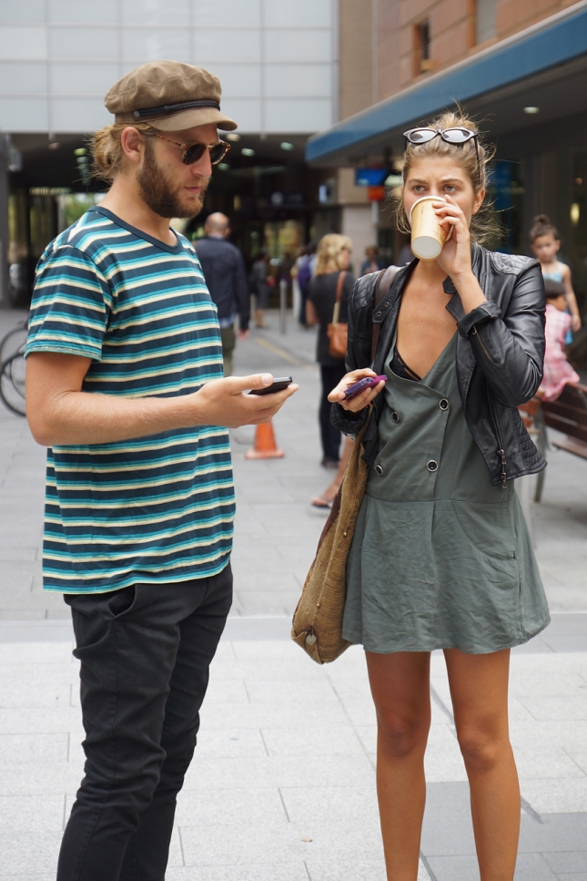 On the street, Adelaide