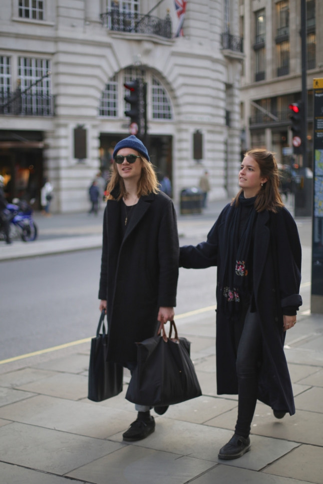 On the street, London